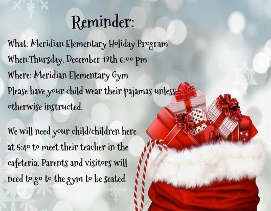 MES Holiday Program